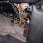 Center console front driver's side screw