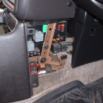 Front passenger console screw
