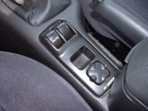 Coupe power window switch