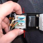 Unclip power mirror switch, view 2